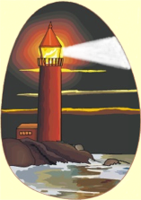 lighthouse that serves as a beacon clipart